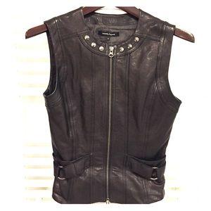 Nanette Lepore Leather Studded vest Small 4